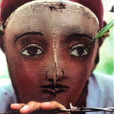 Susan Meiselas - Traditional Indian mask used in the popular insurrection. Nicaragua, 1978.