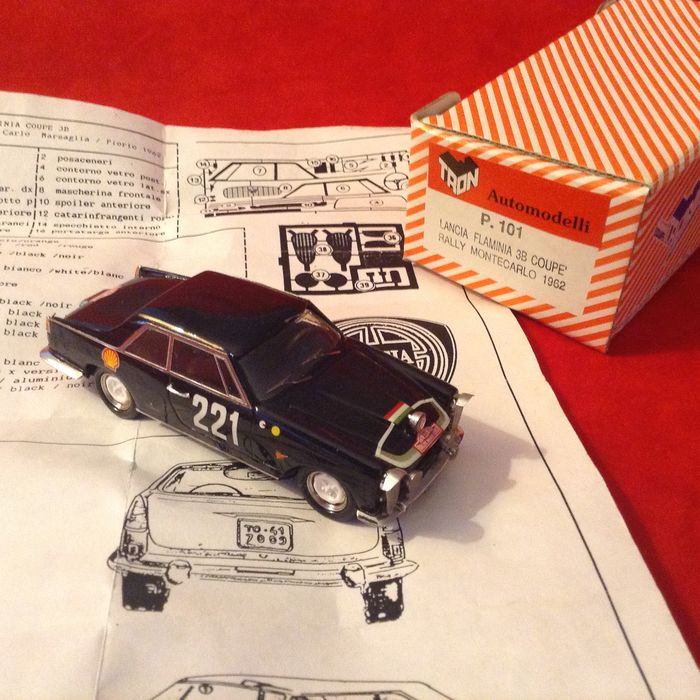 Preview of the first image of TRON Automodelli - made in Italy - 1:43 - ref.#P101 Lancia Flaminia 3B Coupé Rally Montecarlo 1962.