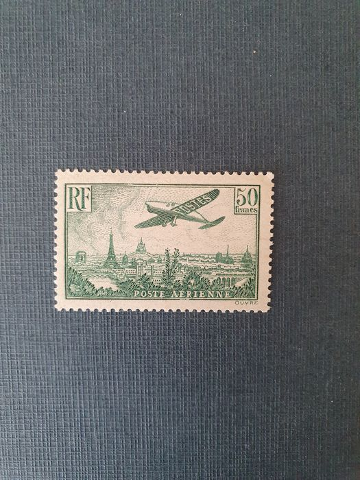 Frankrijk 1936 - France airmail No.14b, mint, signed with certificate. - Yvert n°14b