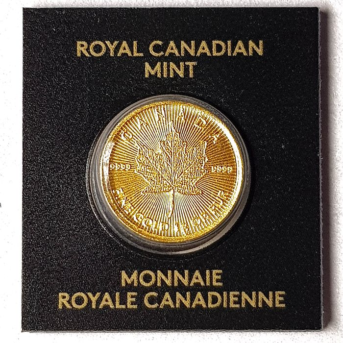 Canada. 50 Cents 2020 Royal Canadian Mint - MapleGram, Sealed and Numbered, 1gr .9999
