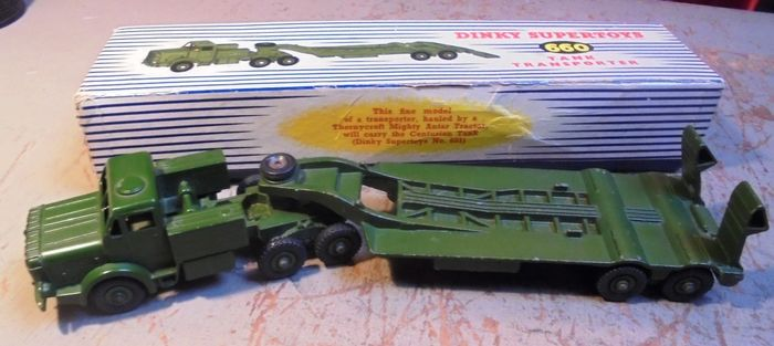 Preview of the first image of Dinky Toys - 1:50 - 660 Thornycroft Mighty Antar Tank Transporter,.