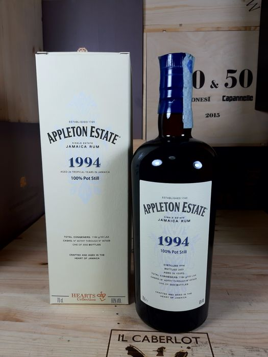 Appleton 1994 26 years old Velier - Hearts Collection - b. 2020 - 70cl