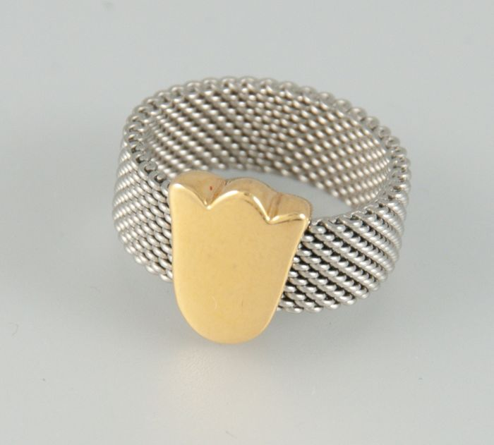 Tous - 18 kt Gold, Stahl - Ring