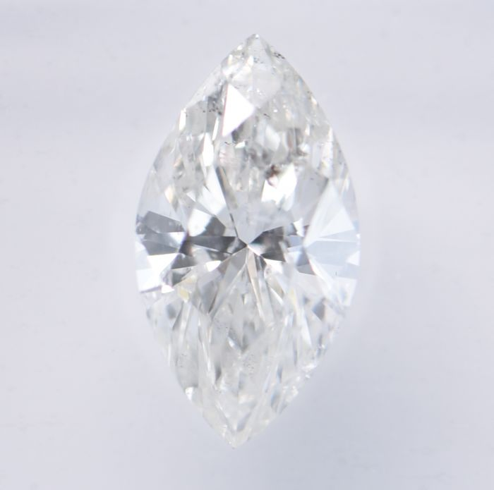 1 pcs Diamant - 1.01 ct - Marquise - H - SI3, **No Reserve Price!**