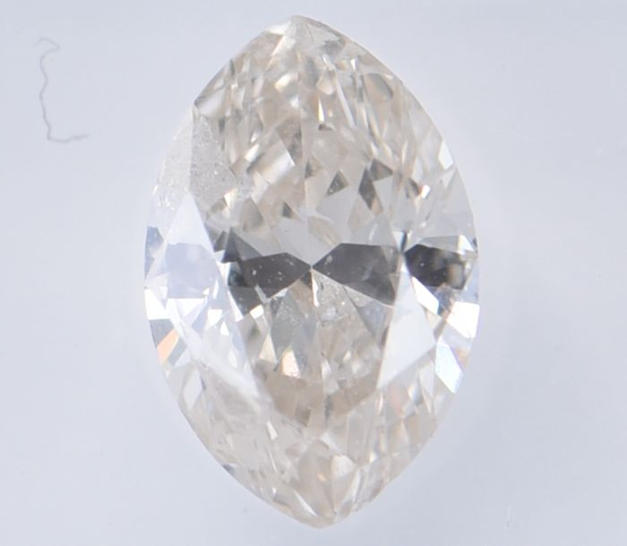 1 pcs Diamant - 1.05 ct - Marquise - Natural Fancy Light Pinkish Brown - SI2, **No Reserve Price!**