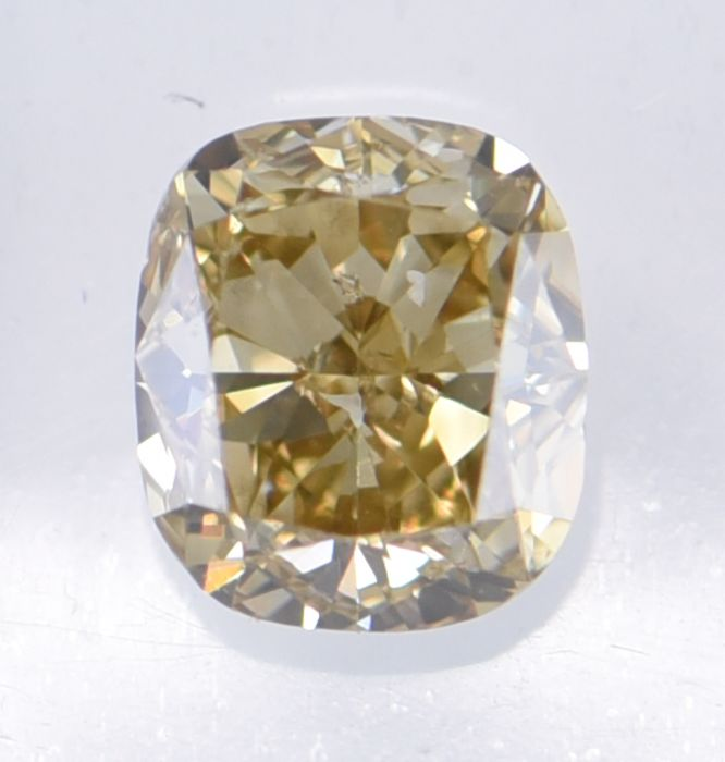 1 pcs Diamant - 1.01 ct - Coussin - Natural Fancy Deep Brownish Yellow - VS2, **No Reserve Price!**