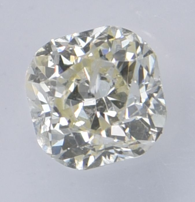 1 pcs Diamant - 0.60 ct - Coussin - Natural Fancy Light Greenish Yellow - SI2, ** No Reserve Price! **