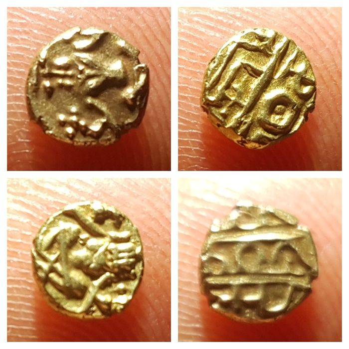 India - AV Fanam, Century 16th-17th (2 pieces) - Oro