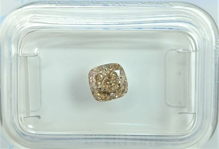 Diamant - 1.03 ct - Coussin - fancy yellowish brown - SI1, No Reserve Price