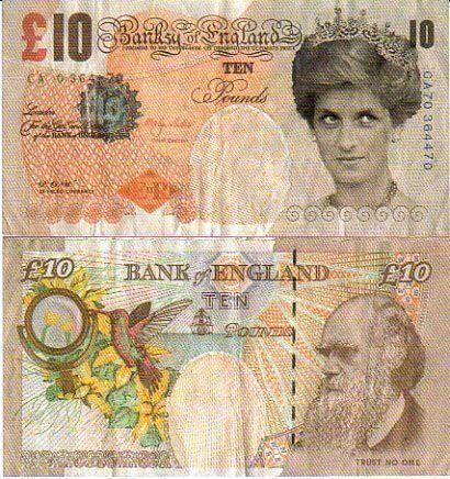 Banksy - Di-Faced Tenner Authenticated by Steve Lazarides