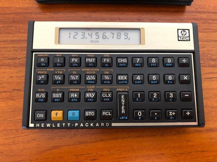 Hewlett Packard - - Calculadora financiera HP-12C
