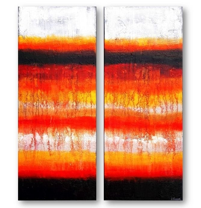 Suzanne Visser - Back in Paradise - diptych