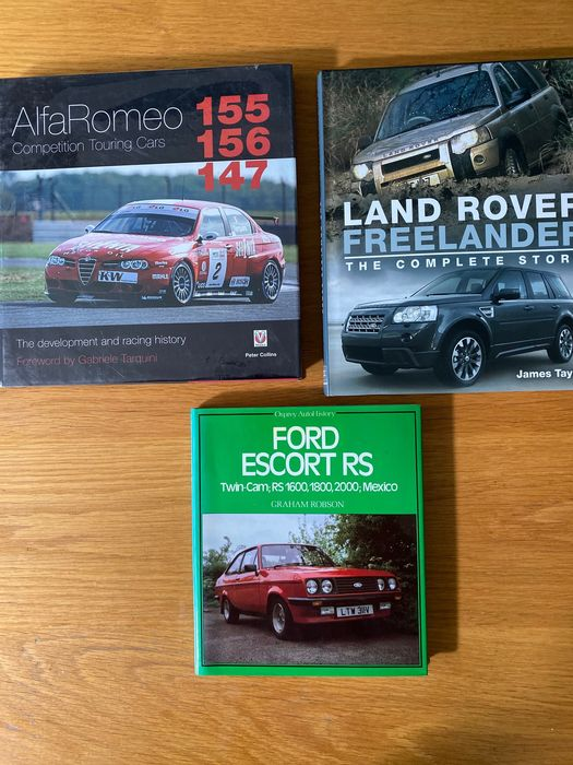 Livres - Alfa Romeo 155,156,147 Competition Touring cars, Ford Escort RS, Land rover Freelander.  - Post 2000