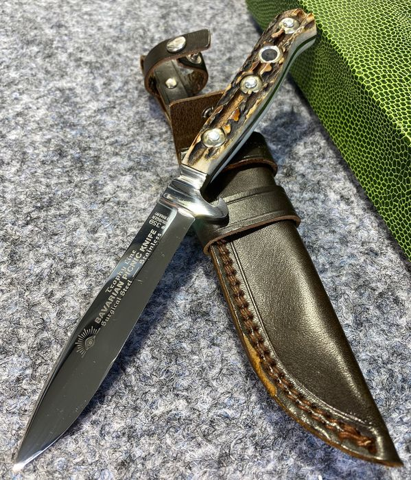 Allemagne - CARL SCHLIEPER BAVARIAN PICNIC KNIFE #359 - SURGICAL STEEL - SOLINGEN ca 1970 - Mint Condition & In Original Box - Hunting - Couteau
