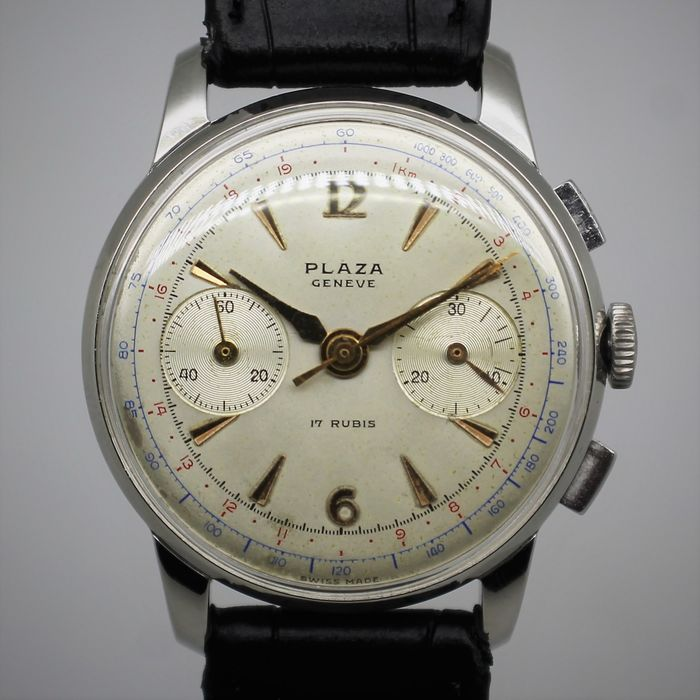Plaza - Chronograph Calibre Landeron 148 - Heren - 1960-1969