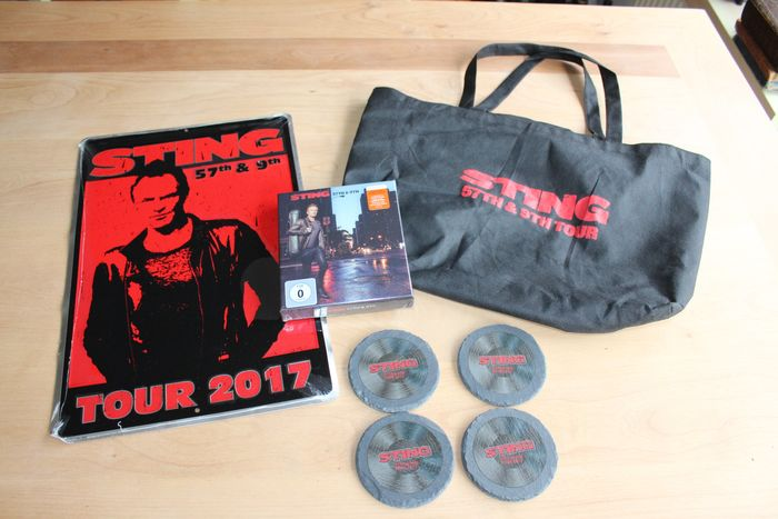 Sting - 57th & 9th USA Tour VIP Promo Pack - Official merchandise memorabilia item - 2017/2017