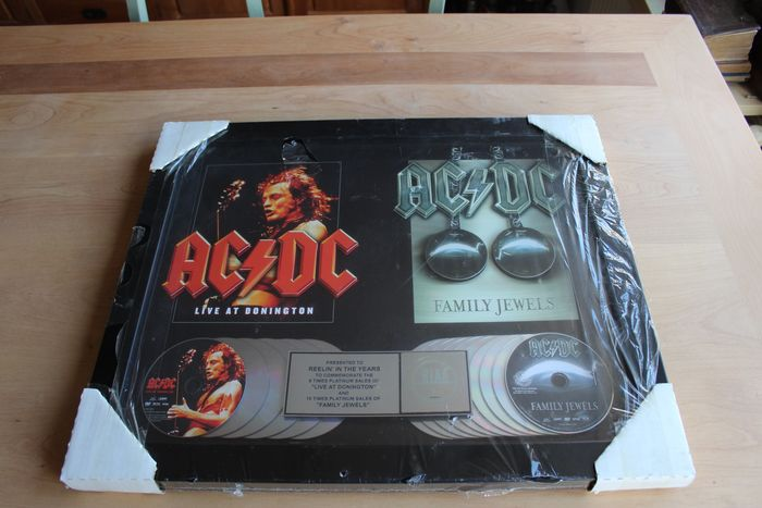 AC/DC - DVD Award / Family Jewels + Live at Donington - Official RIAA award - 2003/2005