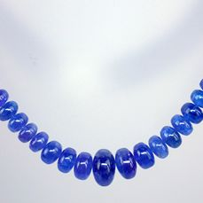 A ++ Beautiful Transparent Tanzanite Necklace Polished, 925 silver clasp - 337.5ct - 67.5 g