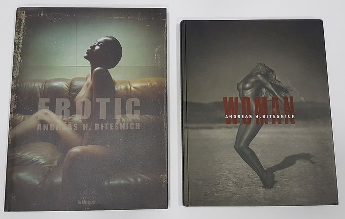 Andreas H. Bitesnich - Lot with 2 books: Woman / Erotic - 2001/2010