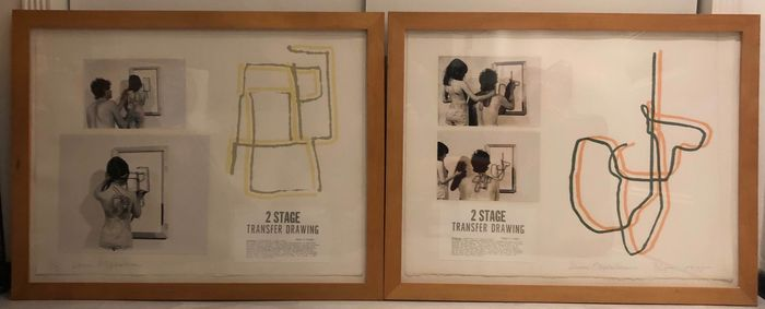 Dennis Oppenheim  - two stage transfer drawing