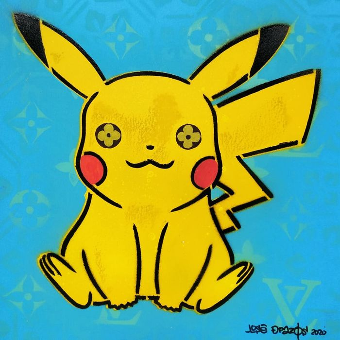 José de Pazos - Pokemon Pikachu Vuitton Light Blue