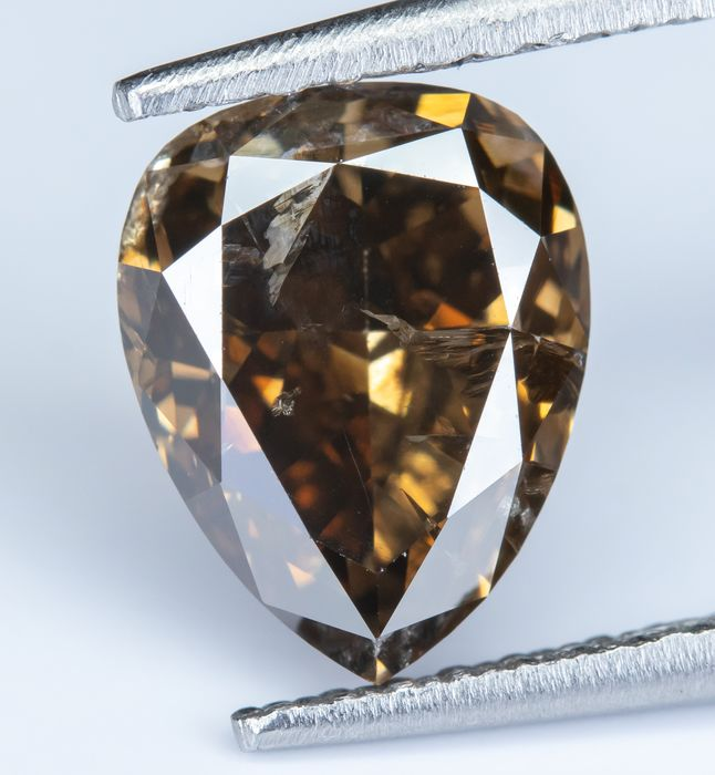 Diamant - 2.09 ct - Natural Fancy Yellowish Brown - I1 - NO RESERVE
