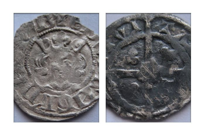 Groot-Brittannië - Penny Edward I 1272-1307 class 9a London and 10c Canterbury (2 coins) - Zilver