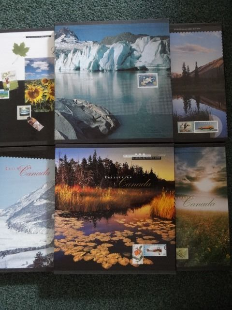 Canadá 1995/2000 - Complete series of year collections, six pieces