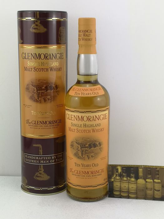 Glenmorangie 10 years old Handcrafted from the sixteen men of Tain in Metal Tin - 70 cl