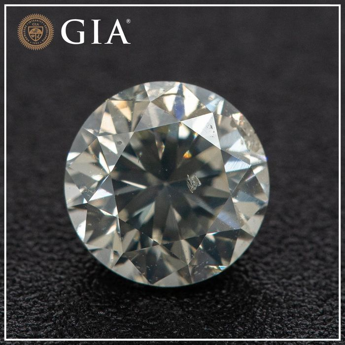 Diamant - 1.00 ct - Brillant - L - I1, GIA - No Reserve Price