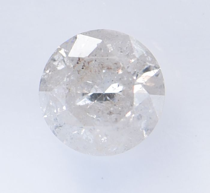 1 pcs Diamant - 0.51 ct - Brillant, Rond - K - I3 (piqué), ** No Reserve Price! **