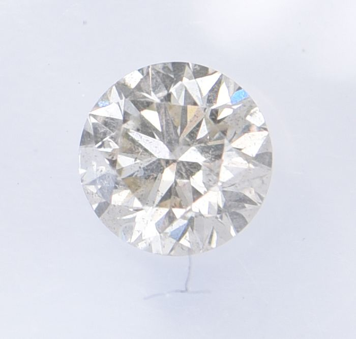 1 pcs Diamant - 0.42 ct - Brillant, Rond - Light Pinkish Brown - SI2, **No Reserve Price**