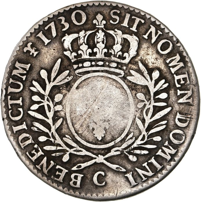 France - Louis XV - 1/2 Ecu 1730-C (Caen) - Silver