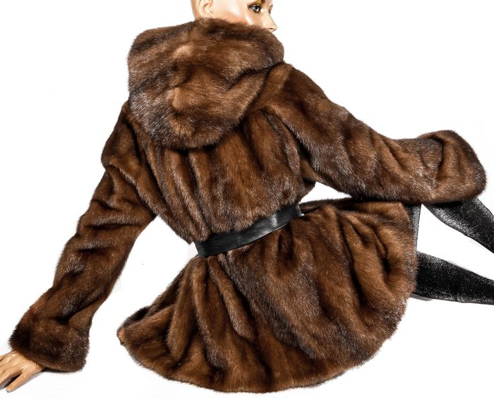 Nerzjacke Nerz mit Kapuze echt SAGA MINK - Fur, Mink fur - Fur coat, Jacket - Made in: Germany