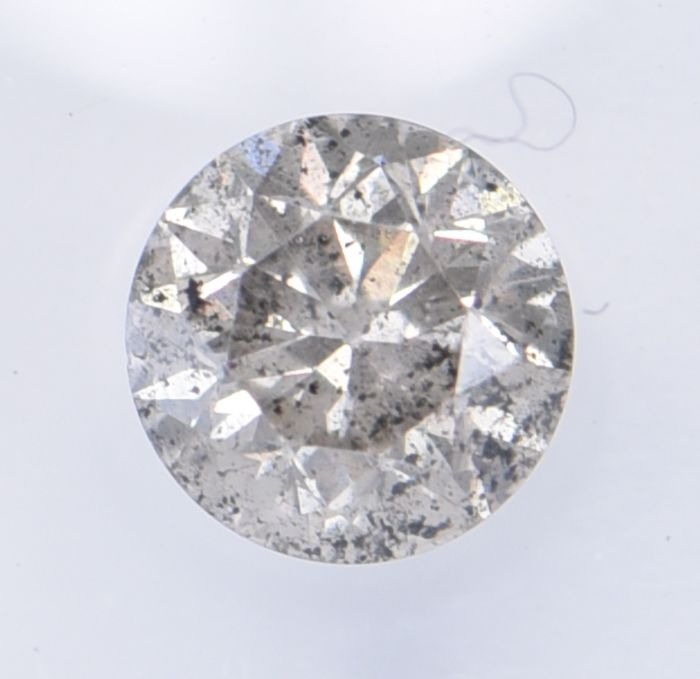 1 pcs Diamant - 0.52 ct - Brillant, Rond - Natural Light Grey - I3 (piqué), ** No Reserve Price! **