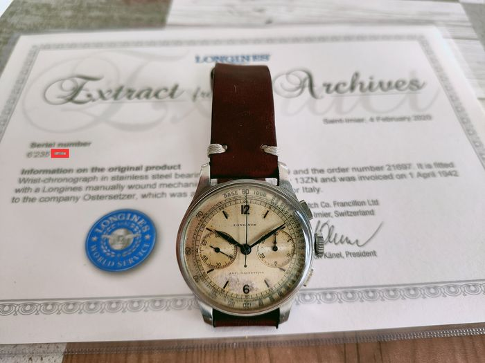 Longines - 13 ZN Vintage Very Rare Official Extract - 5009 - Herren - 1901-1949