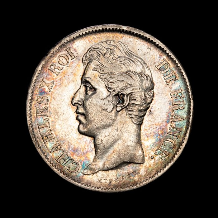 France - Charles X - 5 Francs 1830-W (Lille) - Silver