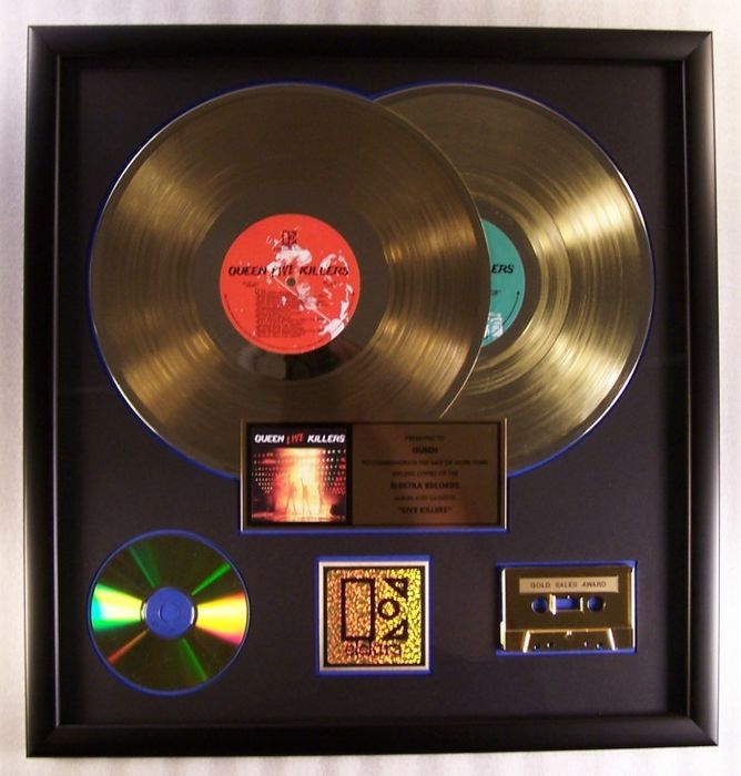 """Queen - """"Live Killers"""" 2-LP, Cassette, CD Gold Record Award Presented To Queen - Official In-House award - 1979/1979"""