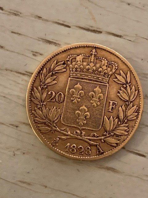 20 Francs 1828-A Charles X - Or