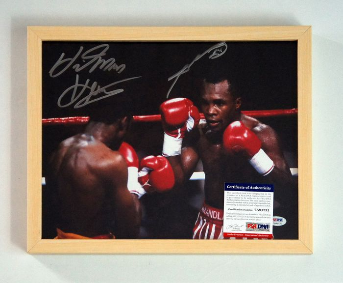 Boxe - Tommy Hitman Hearns and Sugar Ray Leonard - Affiche