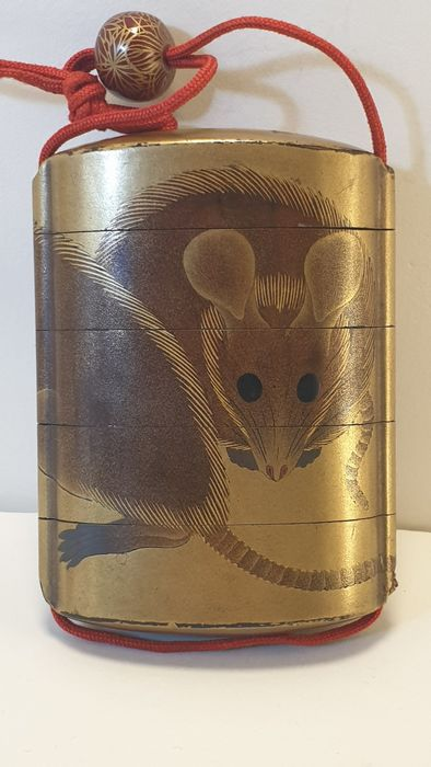 Inro - Mice - Lacquer - Japan - Meiji period (1868-1912)