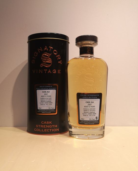 Caol Ila 2007 12 years old Cask Strength Collection  Cask  300893 + 300896 - Signatory Vintage - b. 2019 - 70cl