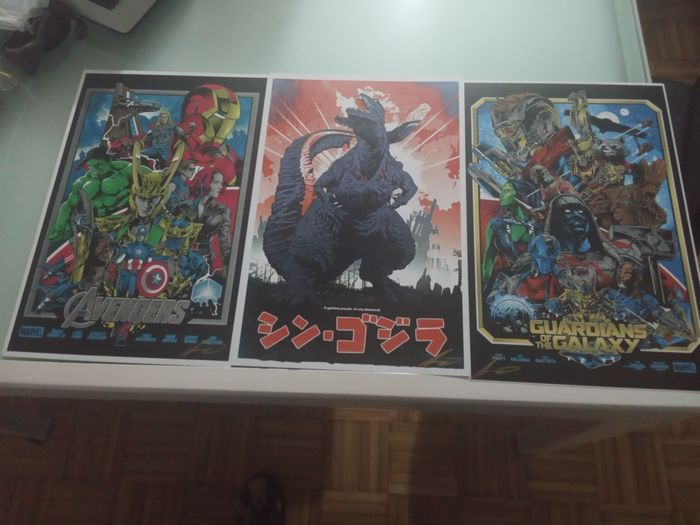 ALEXANDER LACASSINO - three beautiful movie posters drawn and signed by ALEXANDER LACASSINO of AVENGERS,GUARDIANS of The - Herdruk