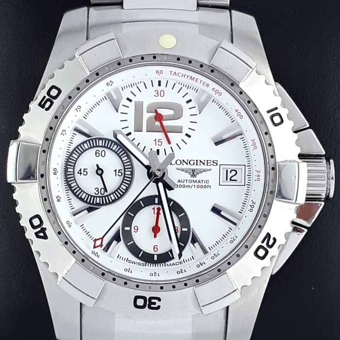 Longines - Hydro Conquest Automatic Chronograph, Full Set - Ref: L3.651.4 - Heren - 2011-heden