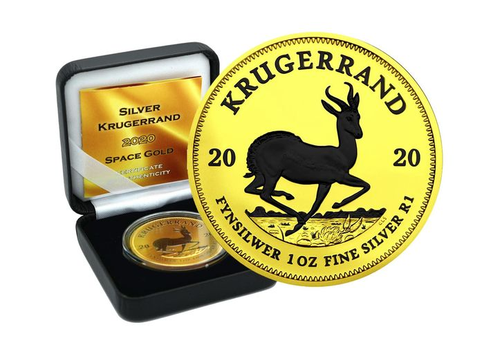 South Africa - Krugerrand 2020 Space Gold Edition in Box - 1 Oz - Silver