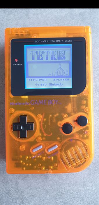 1 Nintendo Gameboy Classic - Refurbished and fitted with a backlight and bivert mod chip - Portátil (1)