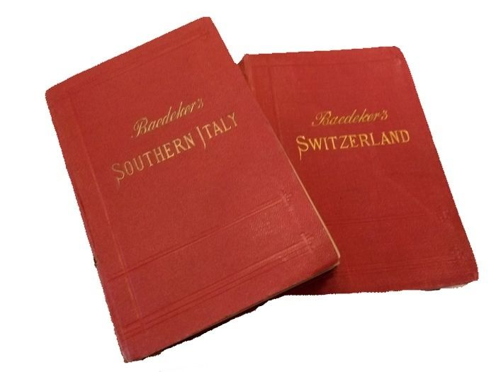 Karl Baedeker: Lot of 2 - Switzerland, Savoy, Italy and Tyrol / Southern Italy and Sicily - 1903/1912