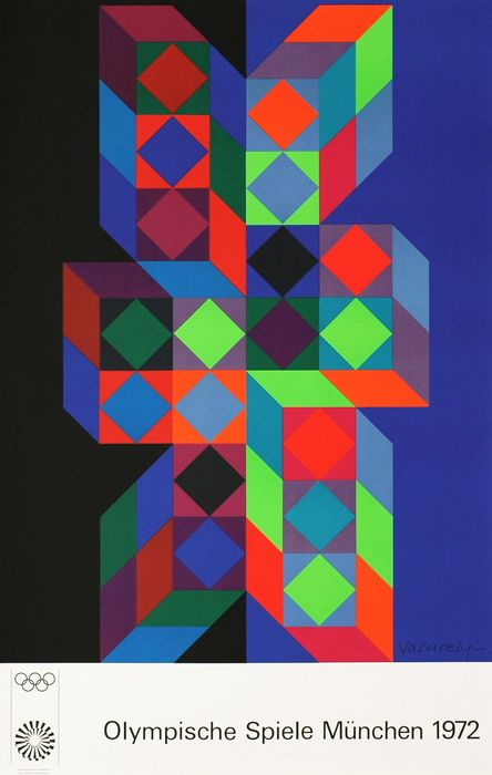 Victor Vasarely (after) - Munchen Olympic Games - 1972 - Anni '70
