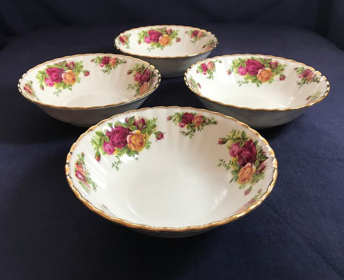 Royal Albert, Old Country Roses - Tazones de desayuno (4) - Porcelana