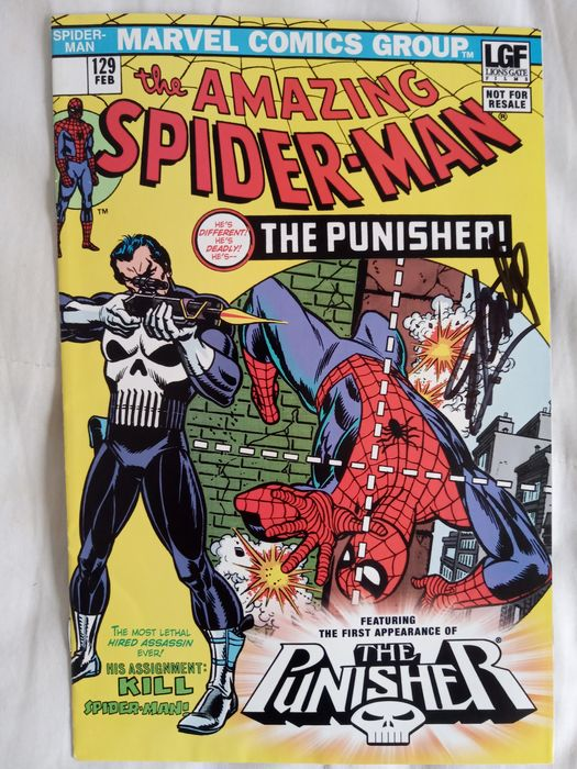 Marvels - Amazing Spider-Man #129 1ST APPEARANCE OF THE Punisher signed by Stan Lee - Réédition